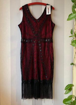 Нарядное платье бисер пайетки pretty guide, новое!