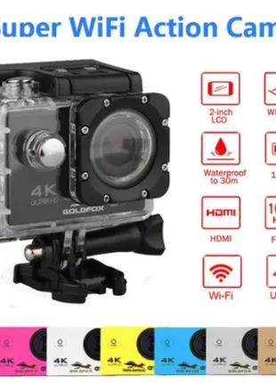 Экшн-камера Action Camera B5 WiFi 4K с водонепроницаемым боксом Л