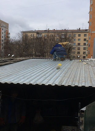 Ремонт и замена крыши дома, гаража, балкона. Гидроизоляция.