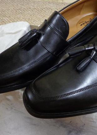 Новые мужские кожаные туфли лоферы clarks tilden stride