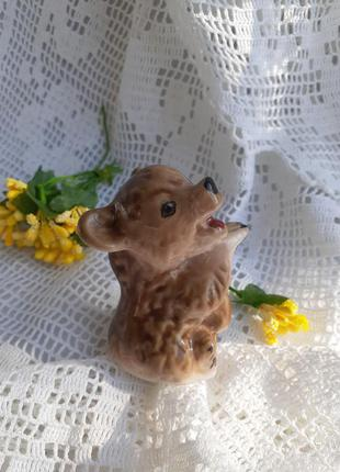 Статуэтка фарфоровая медведь ревущий ломоносовского фз медвежо...