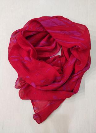 Mexx большой красный тонкий палантин, шарф, 100% коттон