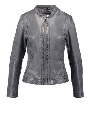 Новая кожаная куртка дымчатого цвета oakwood, франция
