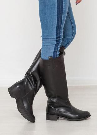 ❗ последние размеры 35, 36 !!! демисезонные кожаные сапоги нат...