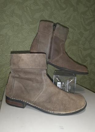 Оригинальные замшевые полусапожки женские ботинки
