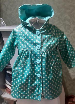 Оригинальное  детское пальто,  плащ водонепроницаемое 12-18м д...