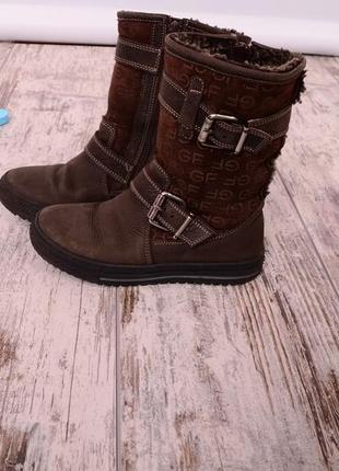 Кожаные демисезонные ботинки на девочку