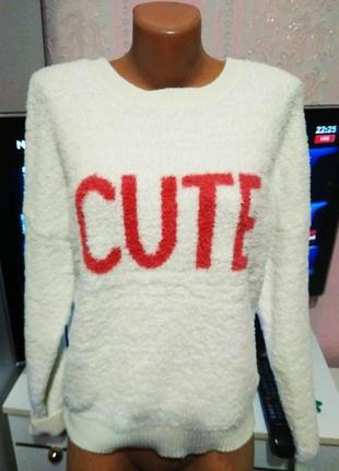 Плюшевый свитер - оверсайз м ка