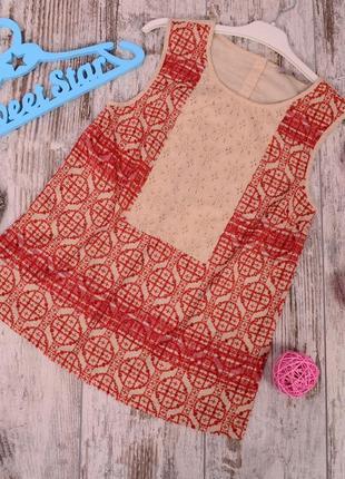 Комбинированная блуза с прошвой tu