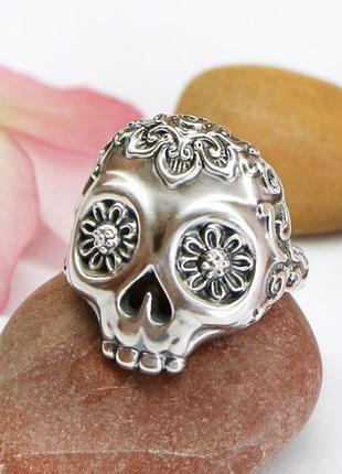"""Женское серебряное дизайнерское кольцо """"череп"""" авторская ручна..."""