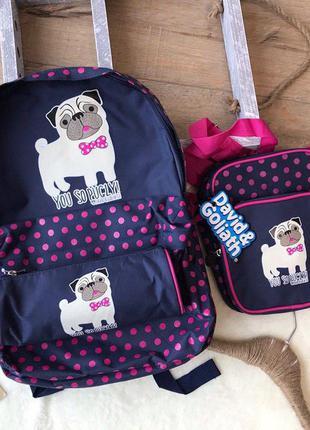 Рюкзак, пенал, сумочка. Набор для школы.