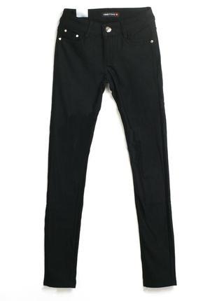 Тонкие женские черные джинсы р.s/m obiettivo италия