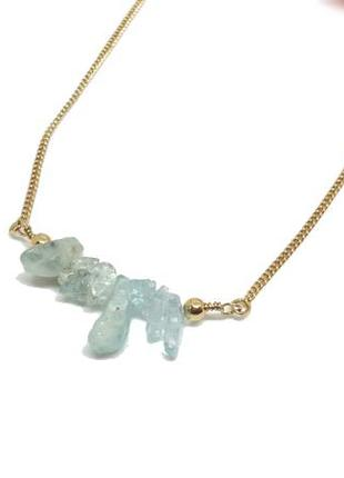 💎супер колье: цепочка и натуральные кристаллы топаза от h&m ор...