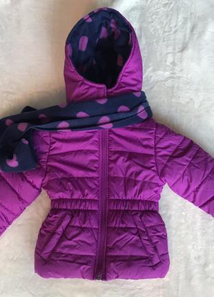 Куртка с шарфом и шапкой pink platinum (сша) для девочки 2года