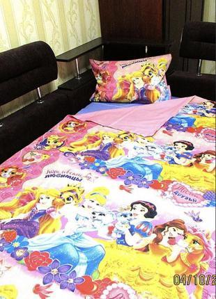 Детское постельное белье полуторное королевские питомцы