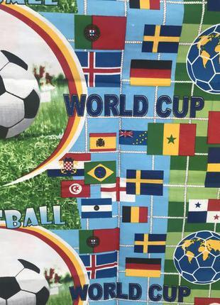 Детский постельный комплект полуторный для мальчика футбол