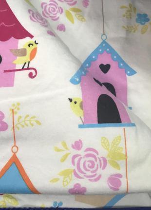 Постельное в кроватку для новорожденных байковое
