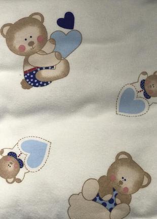 Постельный комплект для новорожденных ткань байка