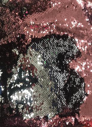 Декоративная наволочка с паетками блестящая 40х40