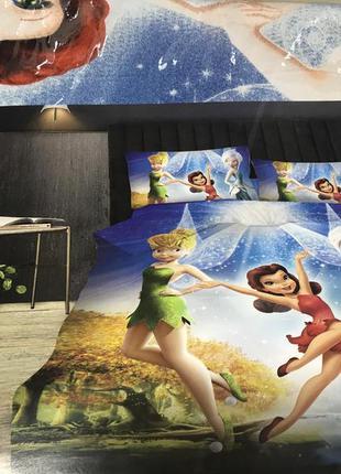 Детский постельный комплект полуторный фея динь-динь для девочки