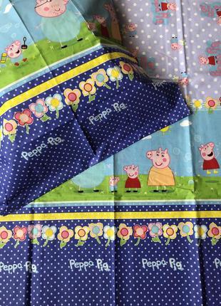 Детский постельный комплект полуторный свинка пеппа