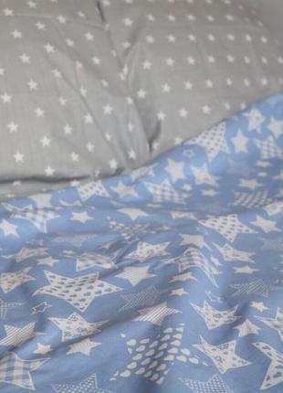 Постільна білизна зірки сіро фіолетова бязь