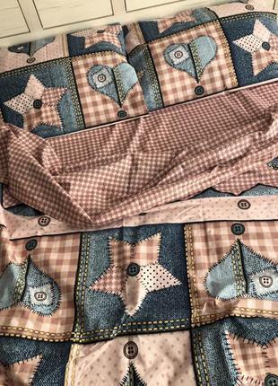 Комплект постельного белья джинс звезды сердца