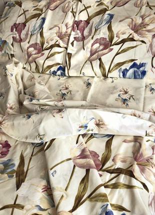 Постельный комплект в цветы бязь голд