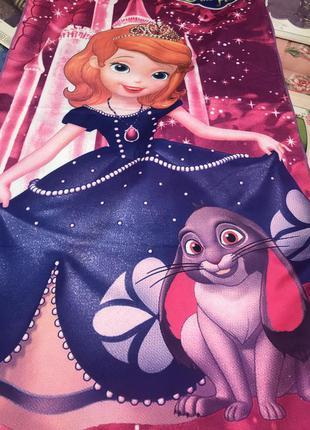 Пляжное полотенце для девочки с принцессой софией