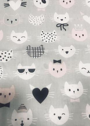 Постельный комплект с котиками для девочки полуторный