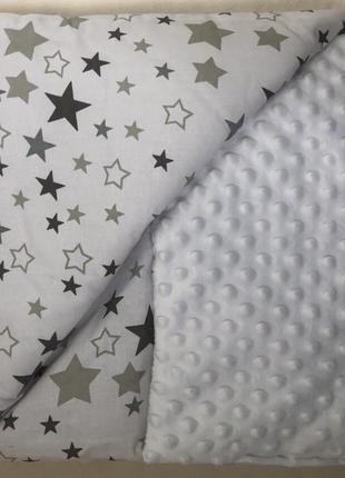 Пкрывало плед одеяло минки для новорожденных белого цвета