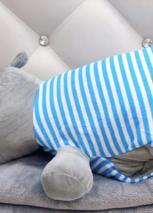 Плед игрушка подушка трансформер 3 в 1 бегемот