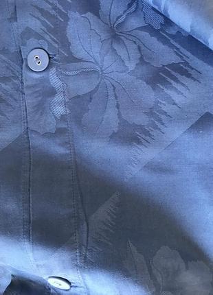 Хлопковый набор постельного белья синего цвета