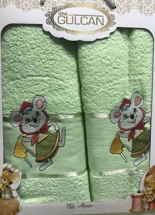 Набор полотенец махра турция мышки