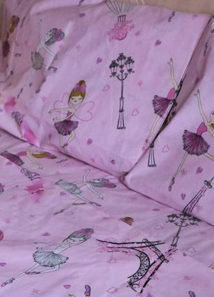 Постельный комплект для девочки балерина бязь голд
