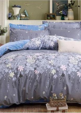Постельный комплект цветы бязь голд