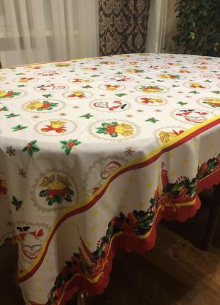 Скатерть праздничная новогодняя на большой стол