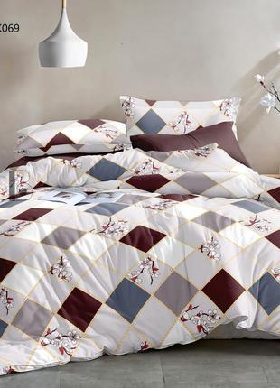 Постельный комплект сатиновый натуральная ткань