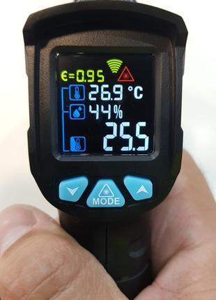 Пирометр с гигрометром Mestek IR01C до 550°C,  влажность