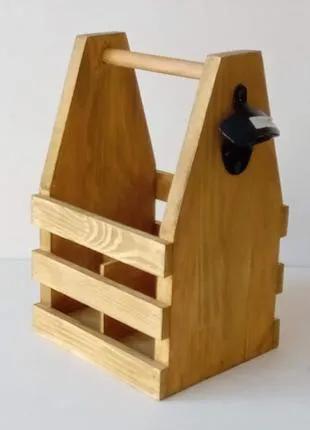 Ящик дерев′яний для 4 пляшок пива