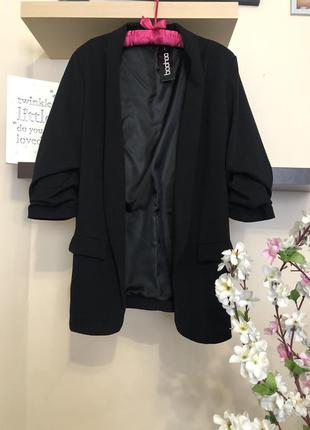 Стильный пиджак кардиган без застежек, пиджак рукава 3/4, пидж...