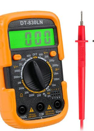 Цифровой мультиметр тестер вольтметр амперметр UT 830 LN
