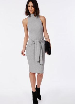 Модное платье по фигуре с поясом от missguided