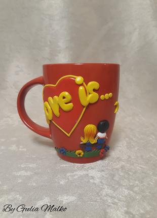 "Подарочная чашка  ""Love is..."""