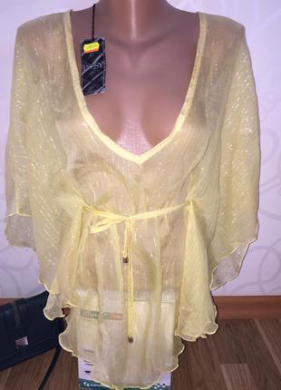 Эффектная блуза, туника. можно на пляж