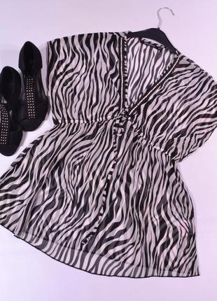 Шифоновая блуза с декором atmosphere