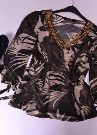 Шифоновая блуза с декором fabiani