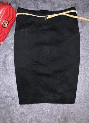 Стильная чёрная юбочка бедровка бренд bitte kai rand copenhagen