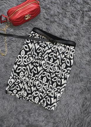 Черно-белая юбка на подкладочке!