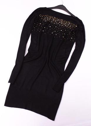 Черное платье с декором laetitia mem
